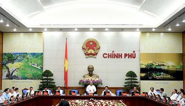 Chính phủ họp phiên chuyên đề về công tác xây dựng pháp luật.