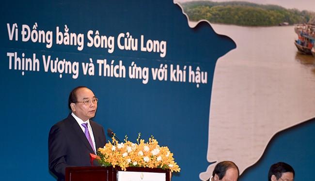 Thủ tướng Chính phủ Nguyễn Xuân Phúc đã dự và phát biểu tại Diễn đàn Đồng bằng sông Cửu Long 2016.