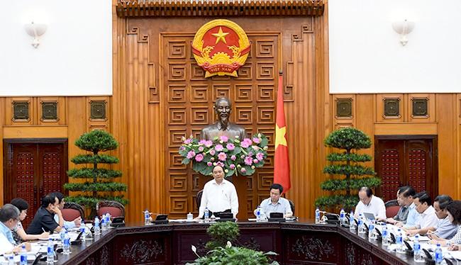 Thủ tướng Nguyễn Xuân Phúc chủ trì buổi làm việc.