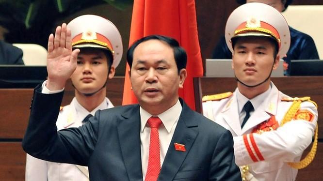 Ông Trần Đại Quang tuyên thệ nhậm chức Chủ tịch nước nhiệm kỳ 2016-2021.