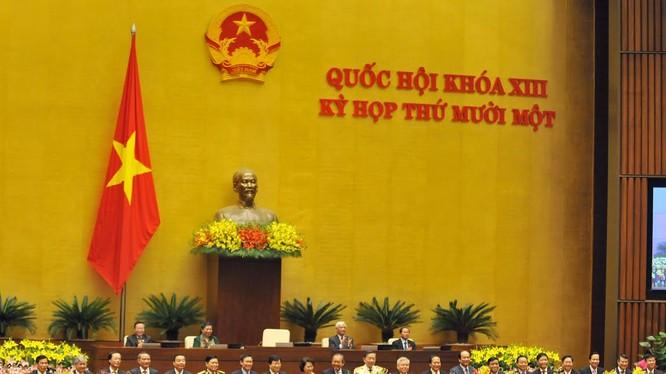 Các thành viên Chính phủ khóa XIV ra mắt quốc dân.