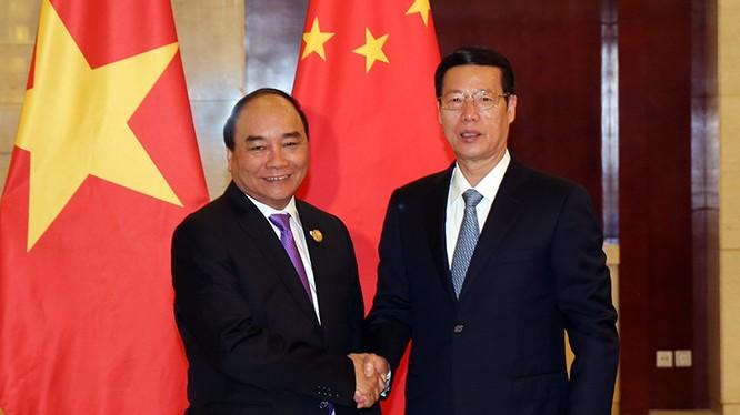 Thủ tướng Nguyễn Xuân Phúc hội kiến Phó Thủ tướng Trung Quốc Trương Cao Lệ