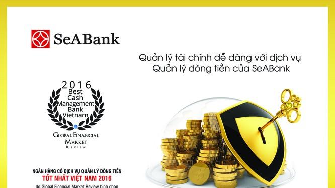 """SeABank được GFM bình chọn là """"Ngân hàng có dịch vụ Quản lý dòng tiền tốt nhất Việt Nam 2016""""."""