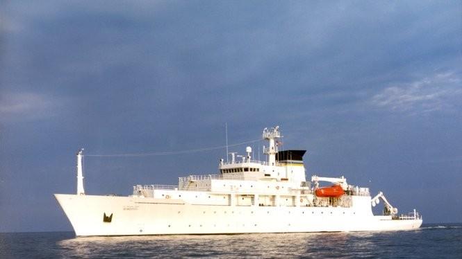 Tàu khảo sát đại dương USNS Bowditch của Hải quân Mỹ - Ảnh: Hải quân Mỹ