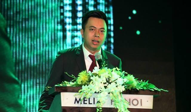 Ông Vũ Quang Hải trong một sự kiện của Sabeco.