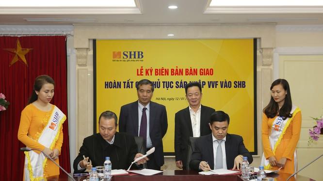 Lễ ký có sự tham dự của Chủ tịch HĐQT, Tổng Giám đốc cùng các đơn vị liên quan của SHB và VVF