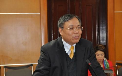 Ông Đinh Quang Tri tại cuộc họp báo sáng 20/1 của Bộ Công Thương.