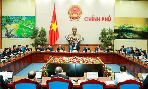 Phiên họp Chính phủ thường kỳ tháng 1 năm 2017.Ảnh:Thống Nhất-TTXVN