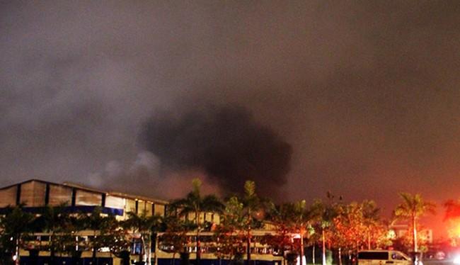 Hiện trường vụ hỏa hoạn.