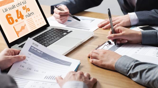 Các doanh nghiệp lớn có thể vay vốn tại SHB với lãi suất chỉ 6,4%/năm.