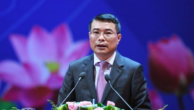 Thống đốc NHNN Lê Minh Hưng phát biểu tại Hội nghị. (Ảnh: Zing.vn)