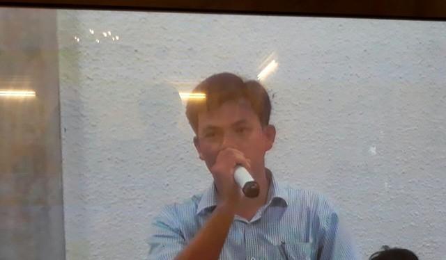 Kế toán trưởng BSR Phạm Xuân Quang nói lời khai của Nguyễn Minh Thu là một chiều. (Ảnh chụp màn hình: K.T)