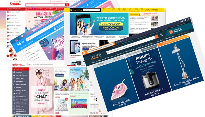 Một số trang thương mại điện tử phổ biến của Việt Nam.