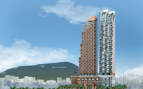 Dự án Khu phức hợp Khách sạn, Thương mại và Căn hộ cao cấp Thiên Hưng được kỳ vọng , tạo điểm nhấn trong việc quảng bá, phát triển du lịch của Bình Định. (Ảnh: BBĐ)