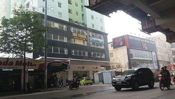 """Công trình """"Tầng kỹ thuật (tầng K) thuộc Tòa nhà SDU - 143 Trần Phú"""". (Ảnh: Cảnh sát PCCC Hà Nội)"""