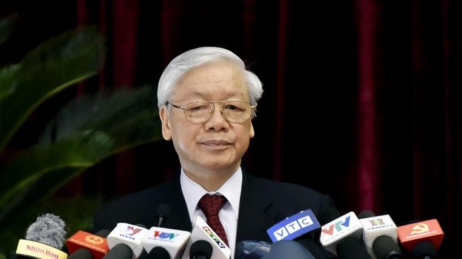 Tổng Bí thư Nguyễn Phú Trọng phát biểu khai mạc Hội nghị. Ảnh: VGP/Nhật Bắc