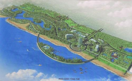 Phối cảnh tổng thể Quy hoạch Khu du lịch sinh thái Tân Dân, huyện Tĩnh Gia. (Ảnh: Internet)