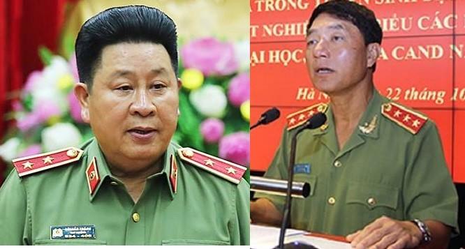 Trung tướng Bùi Văn Thành (trái), và Thượng tướng Trần Việt Tân.