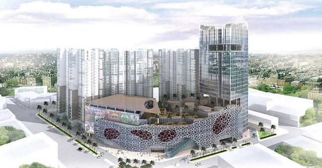 Phối cảnh dự án VinaSquare tại số 152 Trần Phú, Quận 5, Tp. HCM. (Ảnh: VNL)