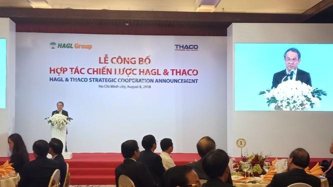 Lễ công bố hợp tác chiến lược đang diễn ra tại TPHCM.