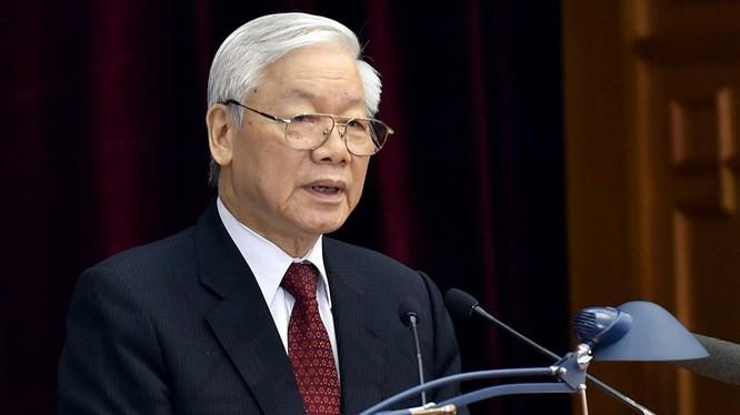 Tổng Bí thư Nguyễn Phú Trọng phát biểu tại Hội nghị. Ảnh: VGP/Nhật Bắc