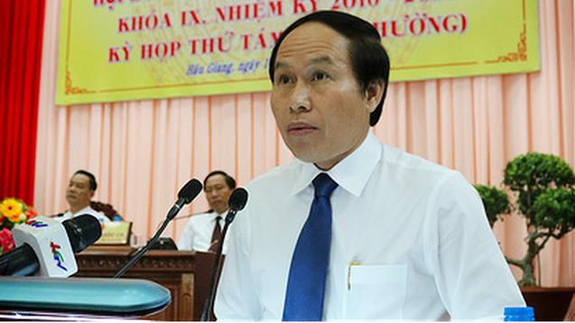Ông Lê Tiến Châu hiện là Phó Bí thư Tỉnh ủy, Chủ tịch UBND tỉnh Hậu Giang.