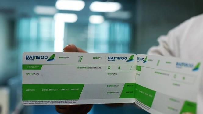 Một mẫu Boarding Pass của Bamboo Airways. (Ảnh: FLC)
