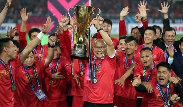 HLV Park Hang-seo có danh hiệu đầu tiên cùng đội tuyển Việt Nam. (Ảnh: Đức Đồng/VnExpress)