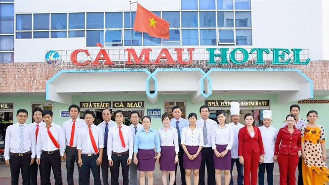 Nhà khách Cà Mau trực thuộc UBND tỉnh Cà Mau. (Ảnh: vanphong.camau.gov.vn)