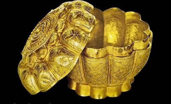 Hộp vàng Ngọa Vân - Yên Tử. (Ảnh: TTVH)