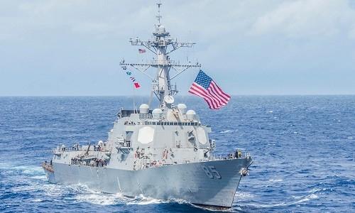 Tàu khu trục USS McCampbell của Mỹ. Ảnh: Business Insider.