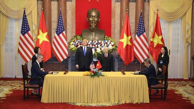 Quang cảnh lễ ký kết giữa Vietnam Airlines và Tập đoàn Sabre. (Ảnh: VGP)
