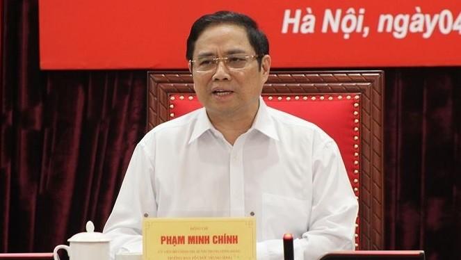 Ông Phạm Minh Chính, Trưởng Ban Tổ chức Trung ương (ảnh Văn Kiên)
