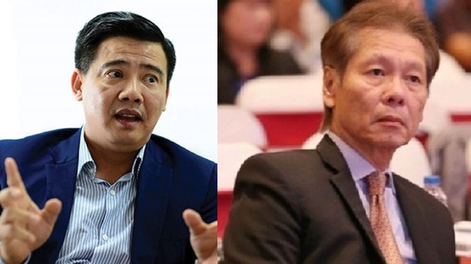 Chủ tịch Eximbank Lê Minh Quốc (phải) đã ủy quyền cho ông Ngô Thanh Tùng thực hiện các quyền và nghĩa vụ của Chủ tịch HĐQT.