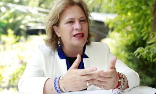 Bộ trưởng Môi trường và Tài nguyên thiên nhiên Josefa Gonzalez Blanco Ortiz Mena ở Mexico City năm 2018. Ảnh: EE.