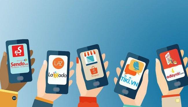 """Bản đồ thương mại điện tử Việt Nam: Sendo vượt Thế giới di động, Lazada bị Tiki, Shopee cho """"hít khói"""""""