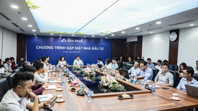 Buổi Gặp mặt nhà đầu tư do HPG tổ chức vào chiều 25/7/2019.