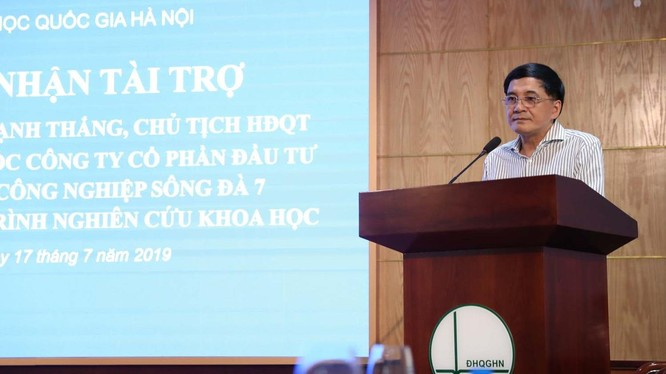 Ông Nguyễn Mạnh Thắng - Chủ tịch HĐQT Urinco7. (Ảnh: ĐHQGHN)