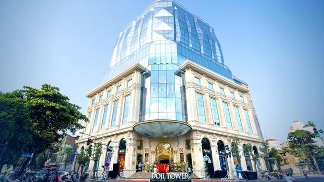 DOJI Tower hiện rõ như một viên kim cương khổng lồ... (Ảnh: Doji)