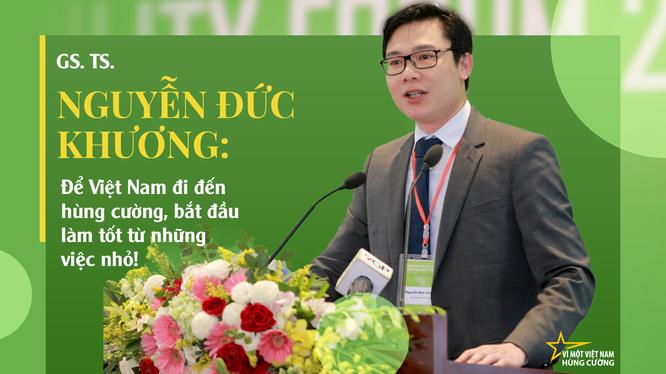 GS. TS Nguyễn Đức Khương - thành viên trẻ nhất trong Tổ tư vấn kinh tế của Thủ tướng Nguyễn Xuân Phúc.