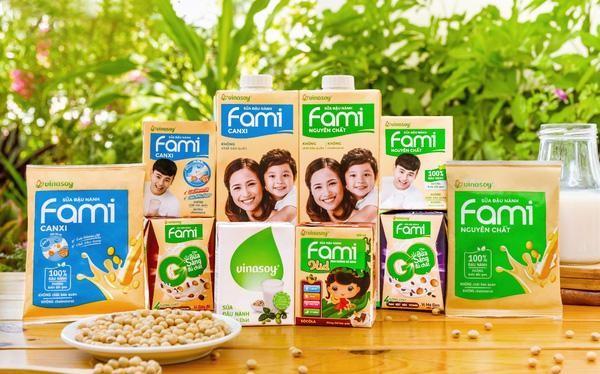 Thị phần sữa đậu nành của QNS đã tăng lên 91% trong tháng 8 (Ảnh: Vinasoy)