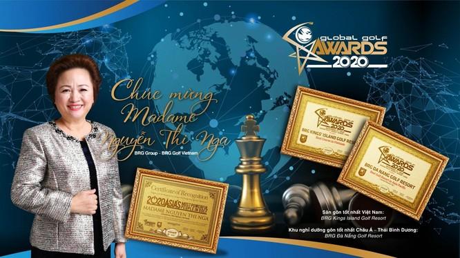 Tập đoàn BRG được vinh danh nhiều giải thưởng tại Global Golf Awards 2020