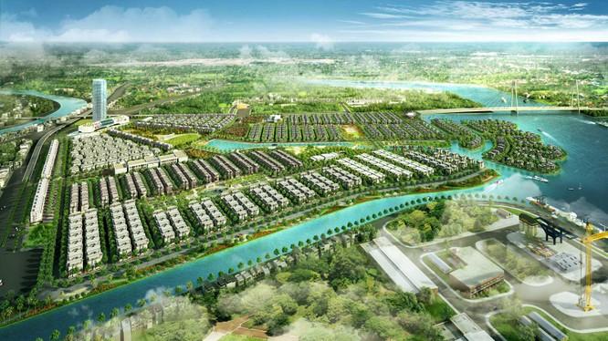 Phối cảnh dự án Khu đô thị phức hợp Hạ Long Xanh (Nguồn: VHM)