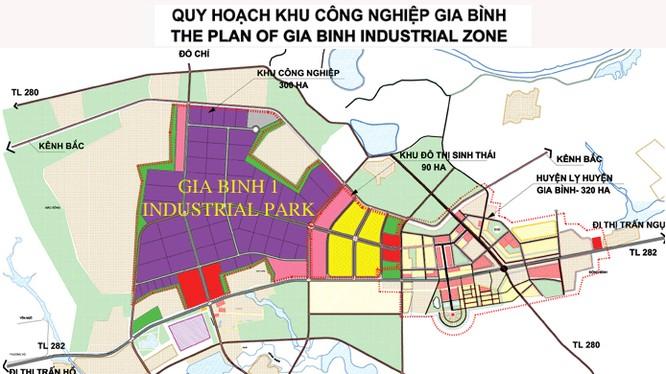 Quy hoạch Khu công nghiệp Gia Bình (Nguồn: izabacninh.gov.vn)