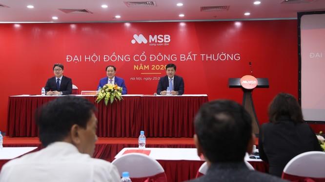 Đại hội cổ đông bất thường của MSB diễn ra sáng ngày 25/9/2020 (Nguồn: MSB)
