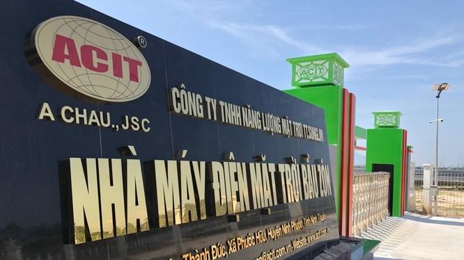 ACIT là chủ đầu tư dự án Nhà máy điện mặt trời Bầu Zôn tại xã Phước Hữu, huyện Ninh Phước, tỉnh Ninh Thuận (Nguồn: acit.com.vn)