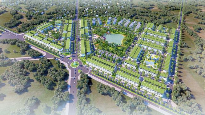 Phối cảnh dự án khu đô thị sinh thái Park City Xuân An (Nguồn: ACG Việt Nam)