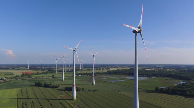 Nhà máy điện gió xanh Sông Cầu, giai đoạn 1 có tổng vốn đầu tư 1.764 tỉ đồng (Nguồn: Internet)