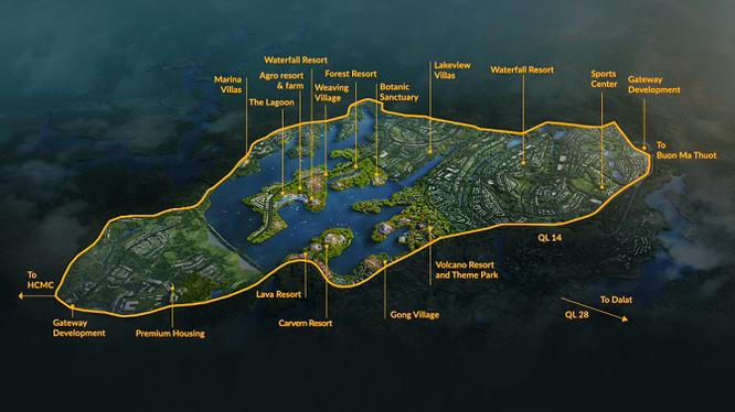 Quy hoạch khu đô thị du lịch sinh thái hồ Đắk R'Tih (Nguồn: truyenhinhdaknong.vn)