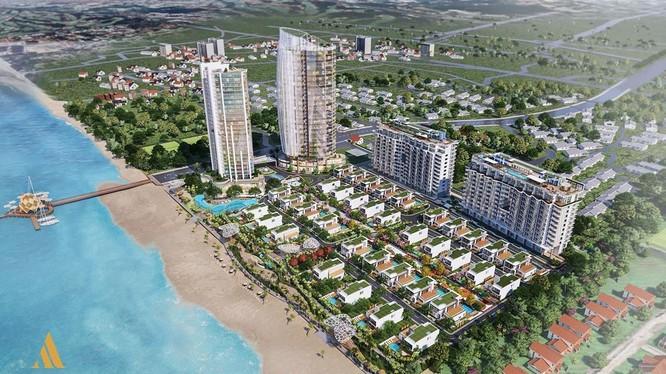 Phối cảnh tổng thể dự án Aria Vũng Tàu - tên cũ: Blue Sapphire Resort (Nguồn: ariavungtau.com.vn)